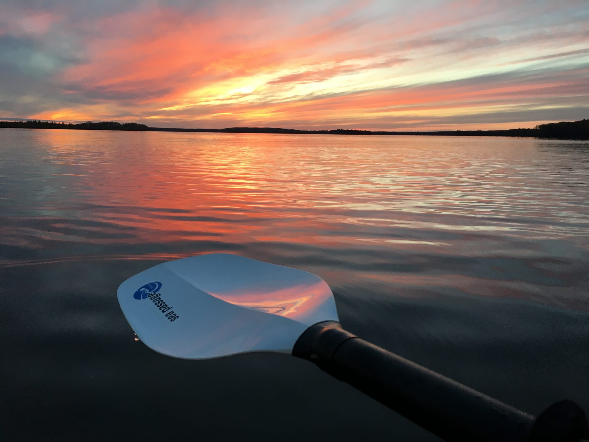 Sunset on the water , Emma Lake Sk
